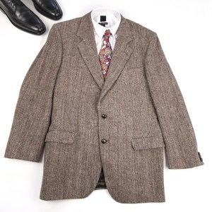 Harris Tweed Vintage Beige Sports Coat Jacket 44